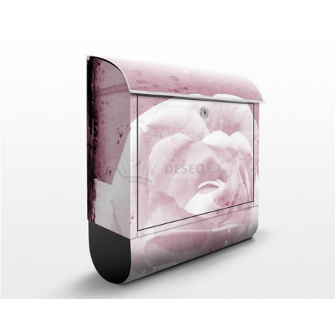 Poštová schránka s potlačou Ružové ruže