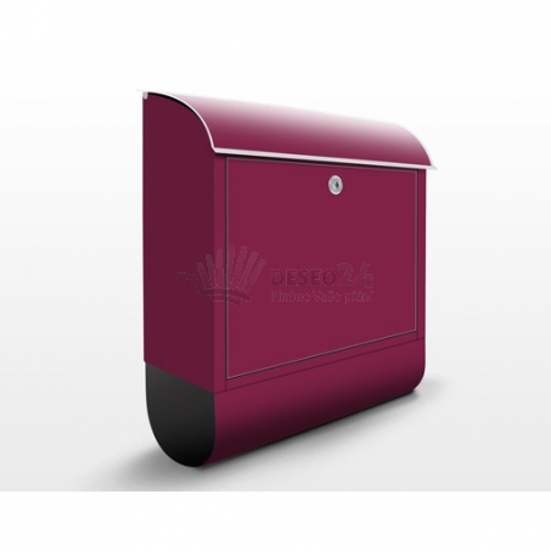Poštová schránka s potlačou Vínovo červená