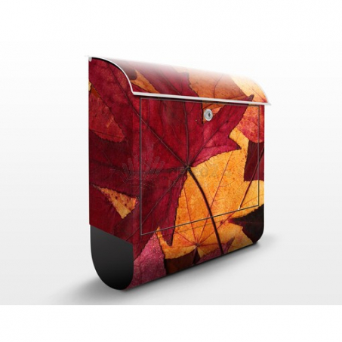 Poštová schránka s potlačou Farebné jesenné listy