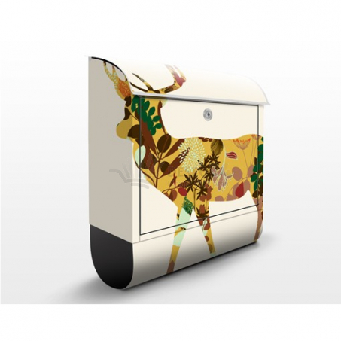 Poštová schránka s potlačou Ornamenty - kvety č. 073