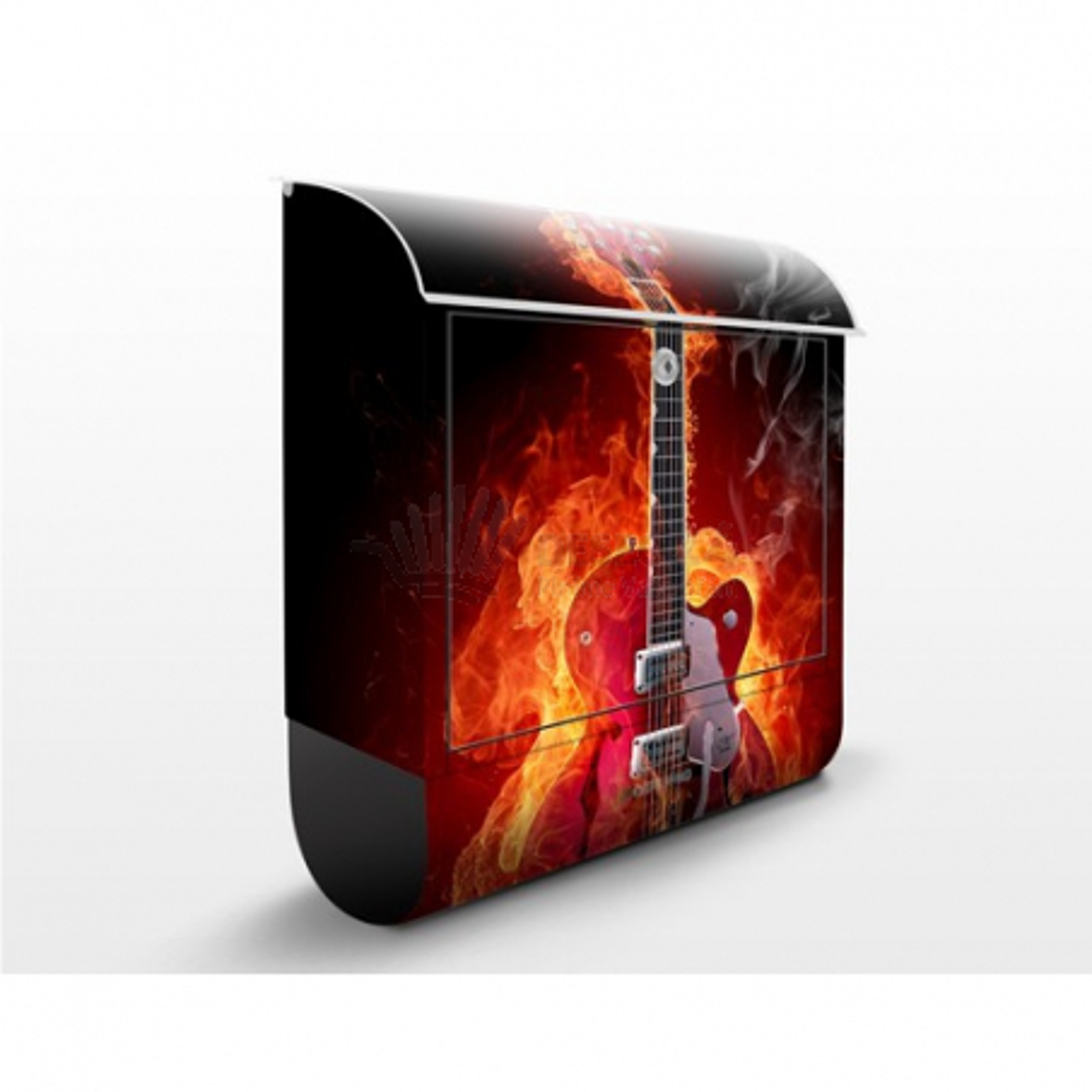 Poštová schránka s potlačou Gitara v plameňoch