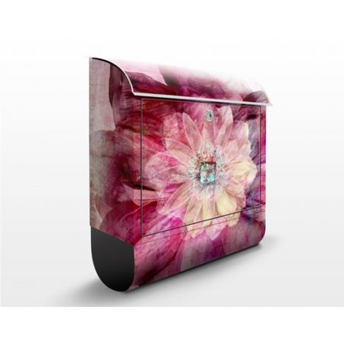 Poštová schránka s potlačou Grunge Flower