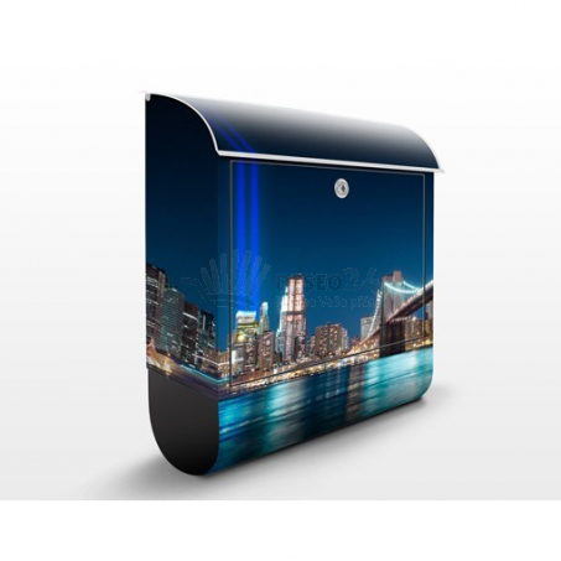 Poštová schránka s potlačou Svetla World Trade Center