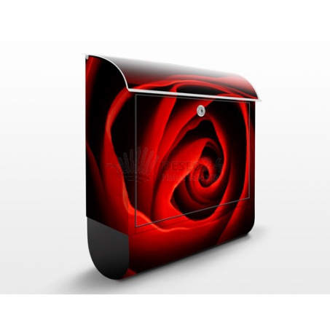 Poštová schránka s potlačou Červená ruža