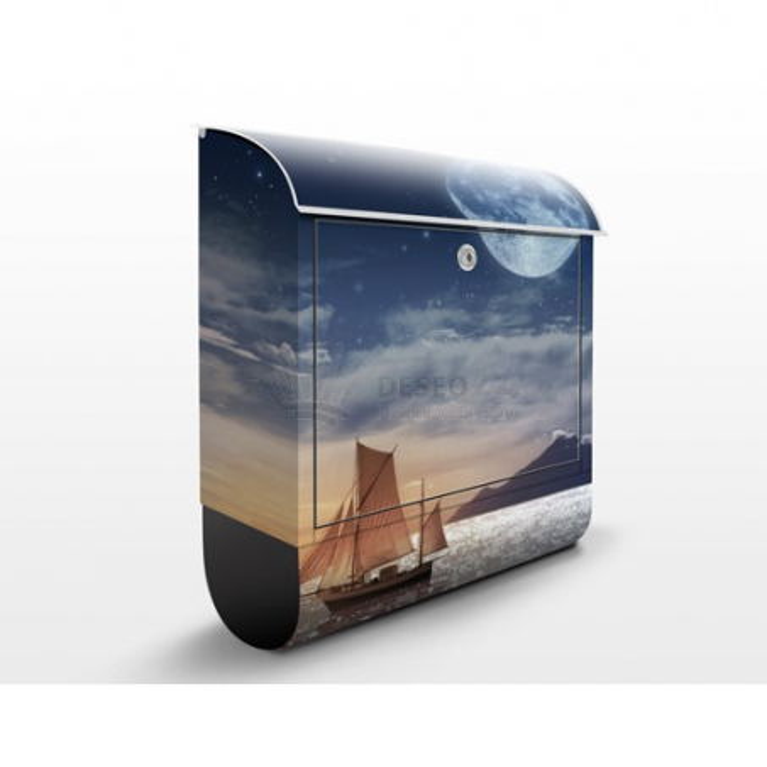 Poštová schránka s potlačou Moon Night Sea