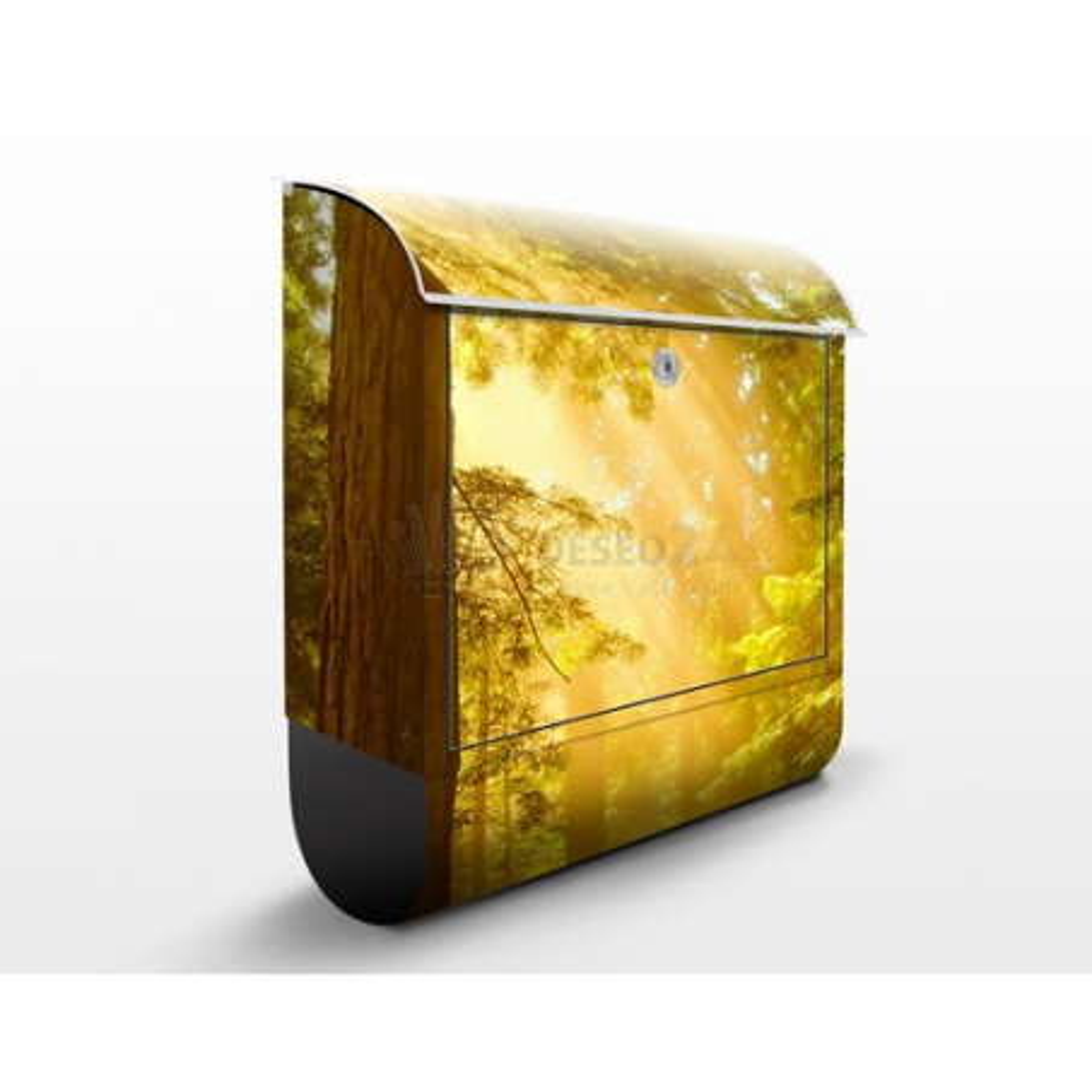 Poštová schránka s potlačou Okouzující ráno v lese