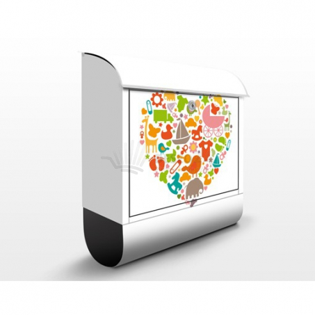 Poštová schránka s potlačou Detský svet v srdci  (EK133)