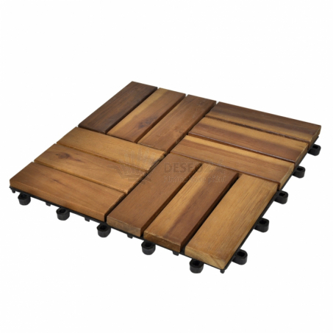 Podlahové dlaždice 30 x 30 cm z agátu sada 30 ks (3 x 41585)