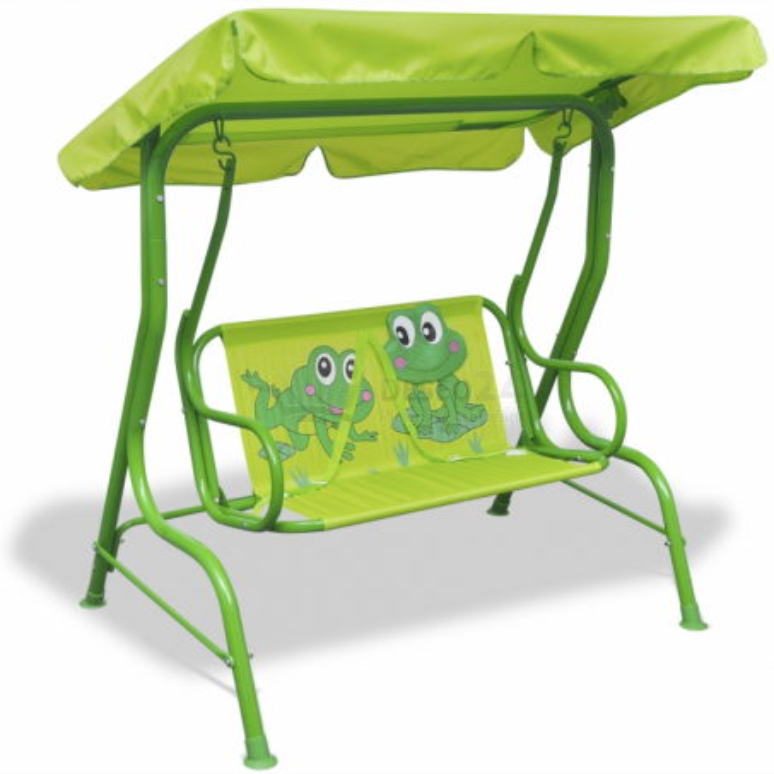 Zelená detská hojdačka