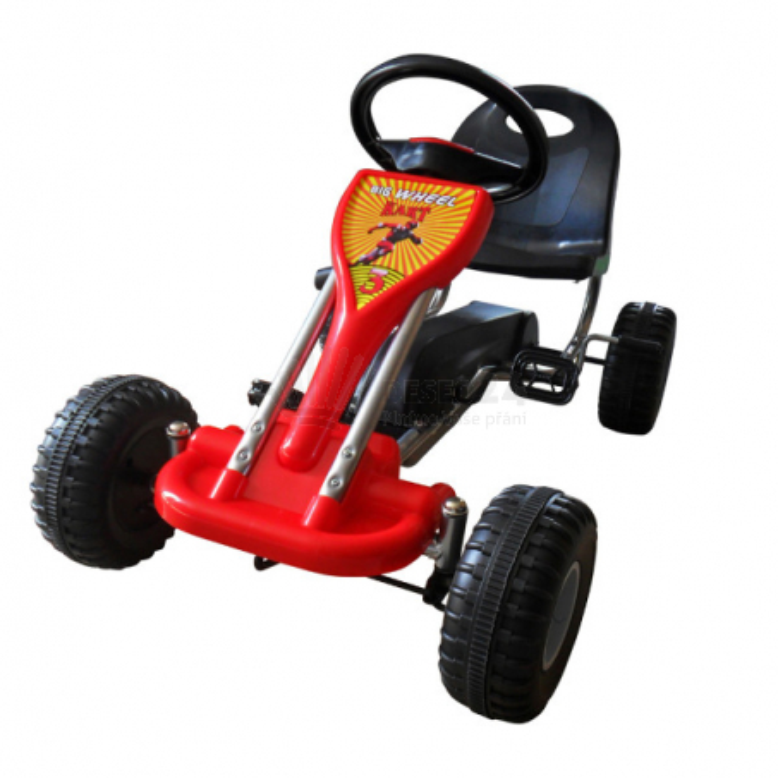 Šlapací autíčko Go-Kart Buggy, červená