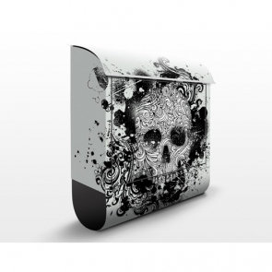 Poštová schránka s potlačou Skull