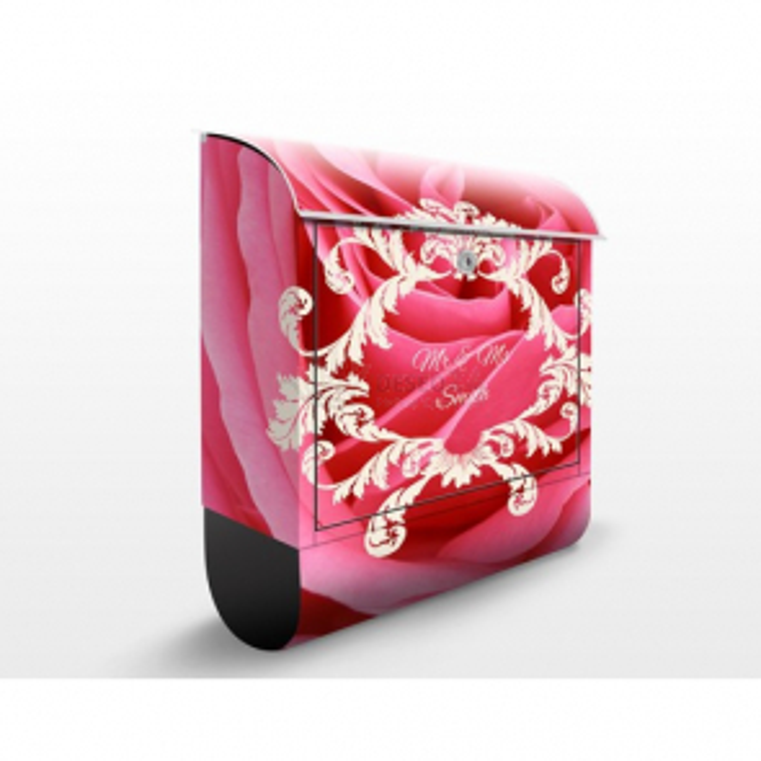 Poštová schránka s potlačou Pink Rose a vlastným textom