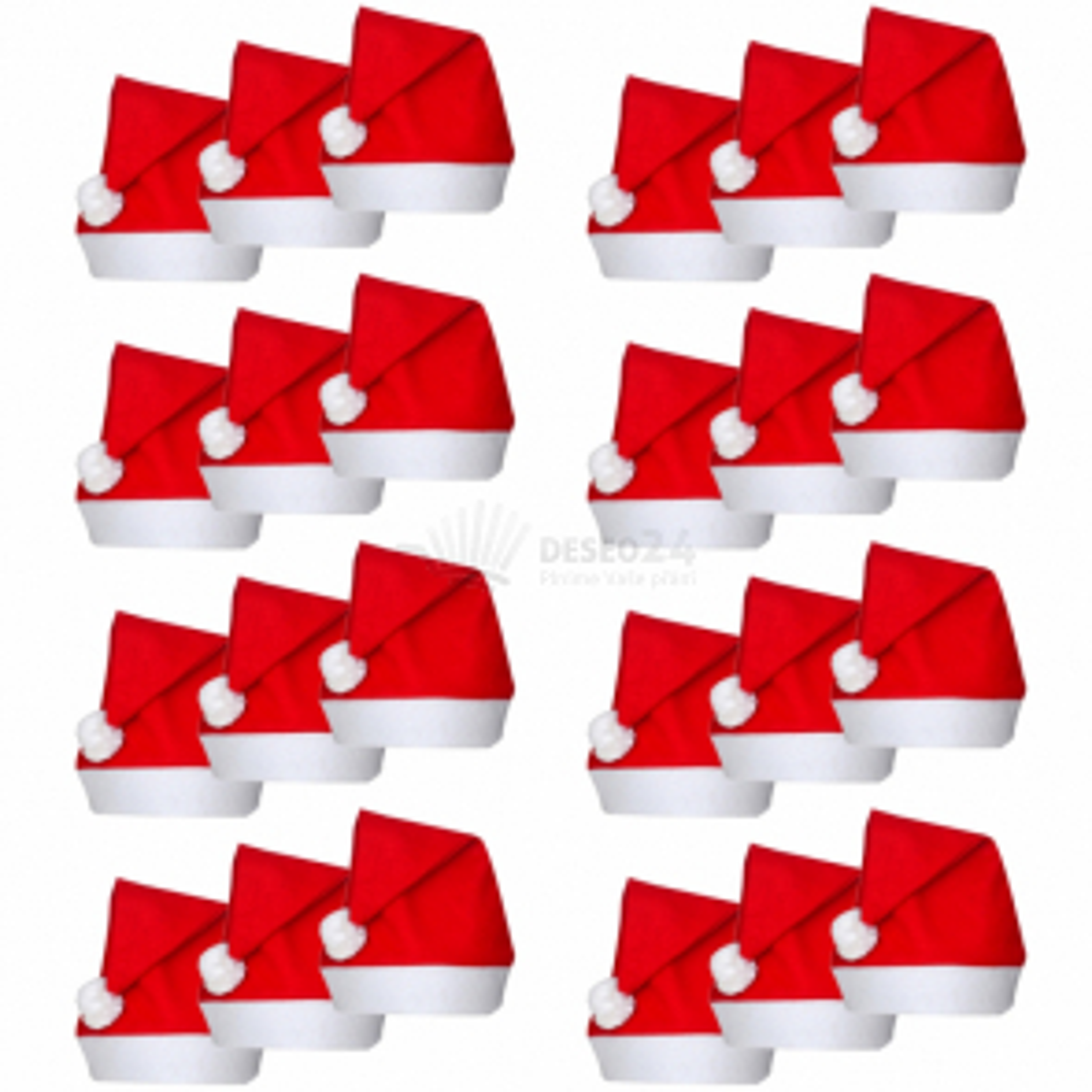 Vianočná čiapka Santa Claus 24 ks