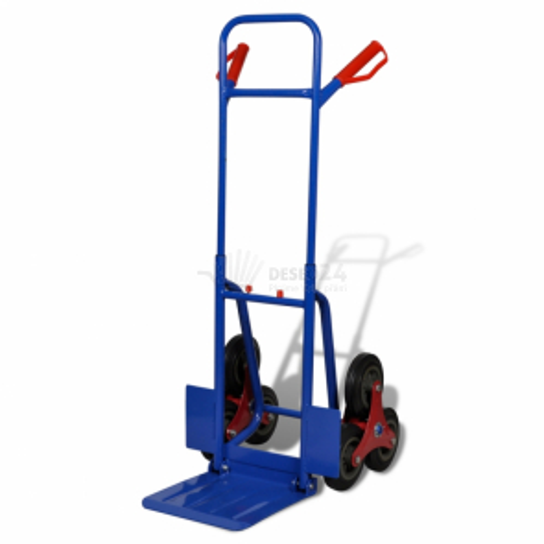 Rudla na schody 6 kolesá s kapacitou 150 kg modro-červená