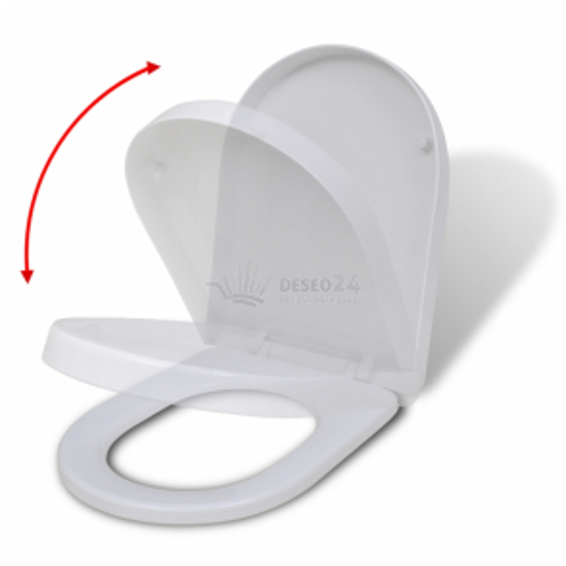 Biele WC softclose sedátko hranaté