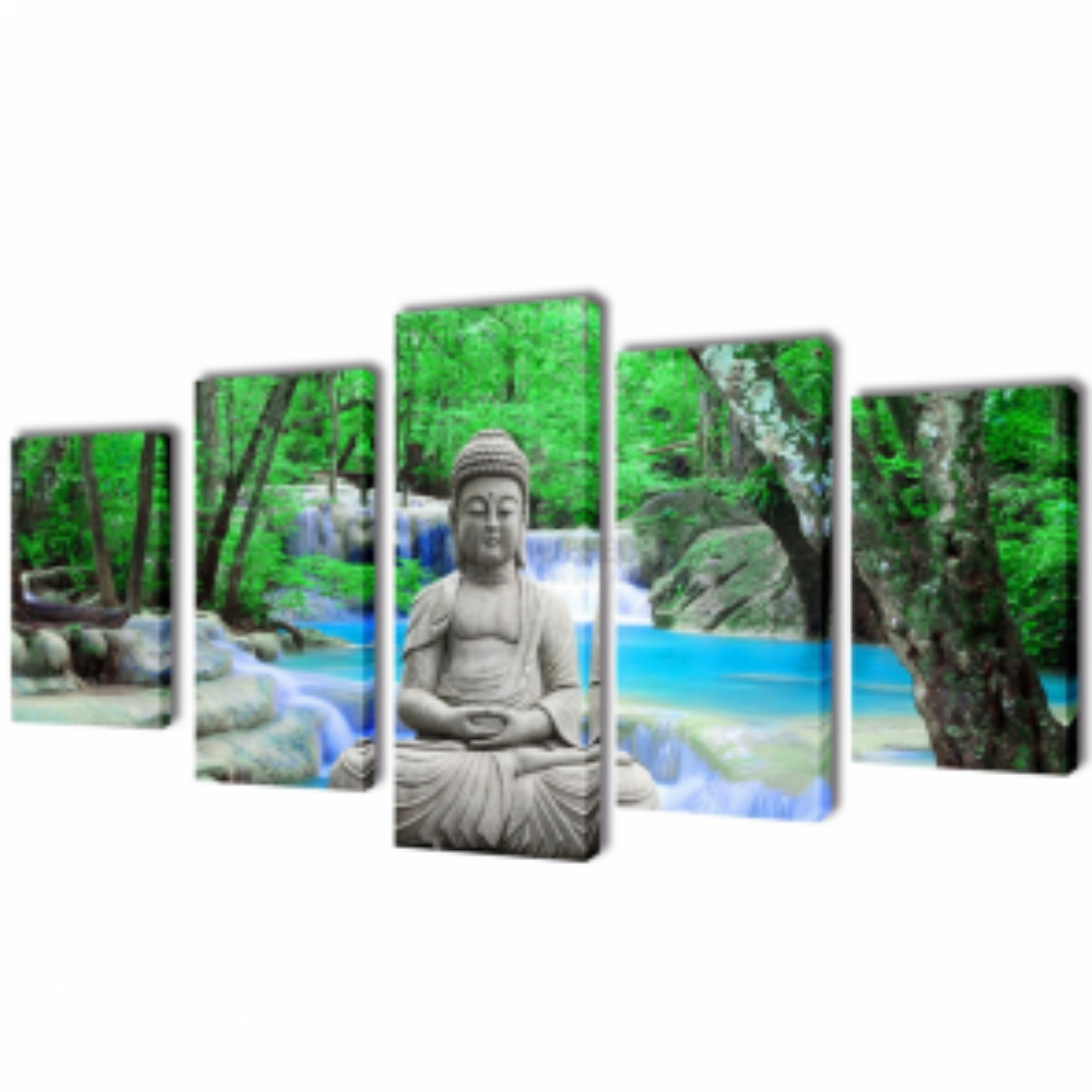 Sada obrazov na stenu, motív Buddha 200 x 100 cm