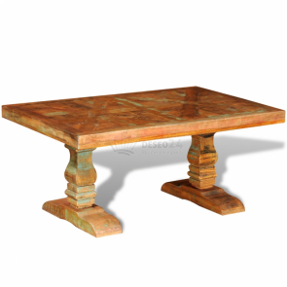 Konferenčný stolík z recyklovaného masívu, starožitný štýl