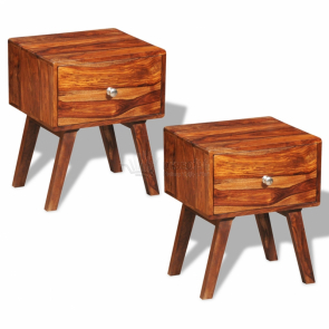 Nočný/príručný stolík z dreva sheesham, vintage retro 2 ks