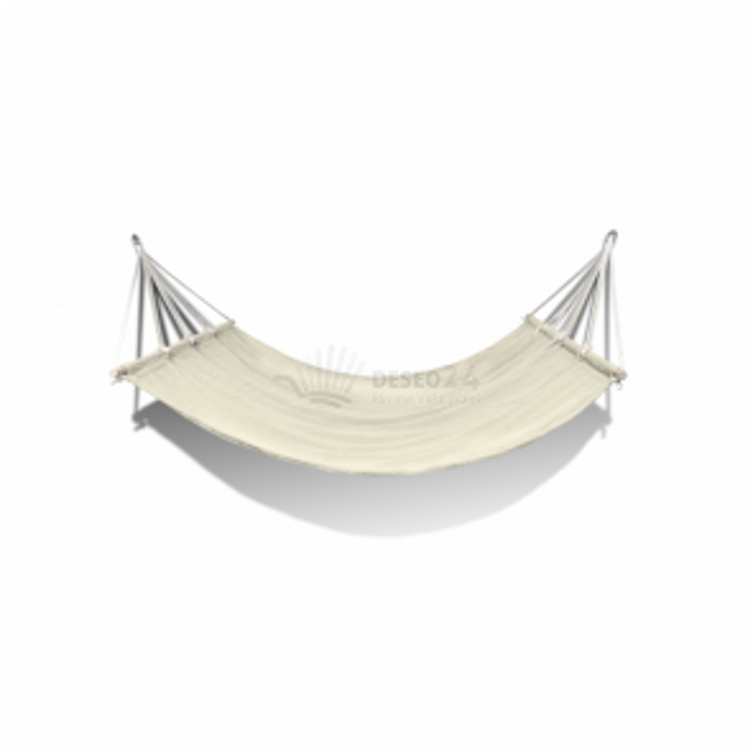 Hojdacia sieť s tyčkou, 210 x 150 cm, krémová