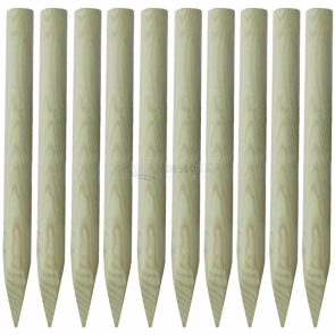Sada drevených stĺpikov s hrotom na záhradné oplotenie 100 cm 10 ks