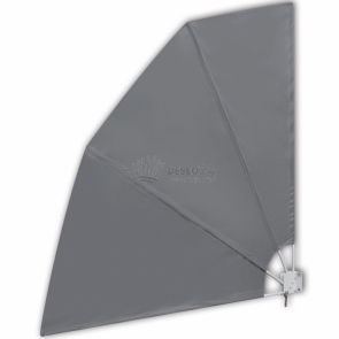Skladacia zástena proti vetru na terasu, šedá 210 x 210 cm