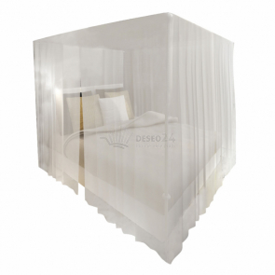 Moskytiéra nad posteľ s 3 otvormi, štvorcová 2 ks