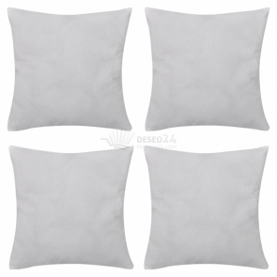 Bílý povlak na polštář, 80 x 80 cm, bavlna, 4 ks