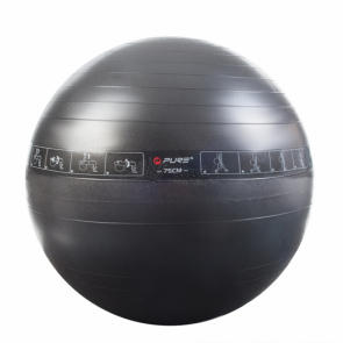 Pure2Improve gymnastický míč, ⌀ 75 cm, černá