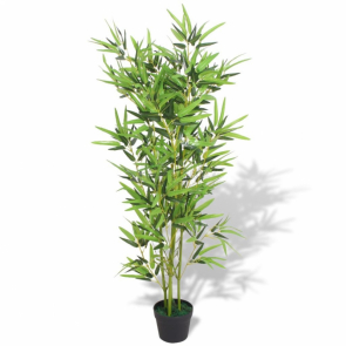 Umělá rostlina bambus s květináčem 120 cm zelený