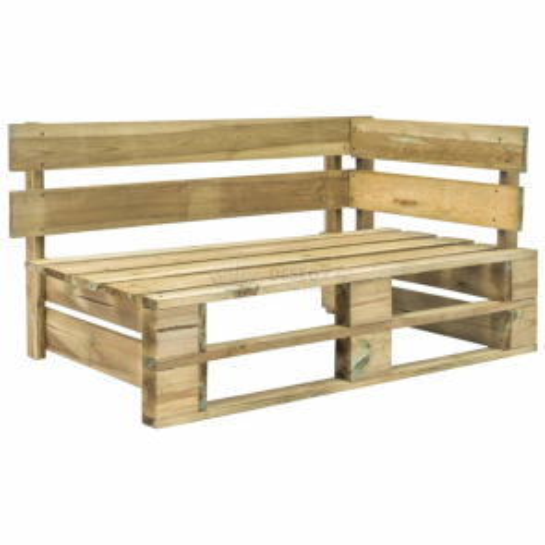 Zahradní rohová lavice z palet FSC dřevo zelená [44695]