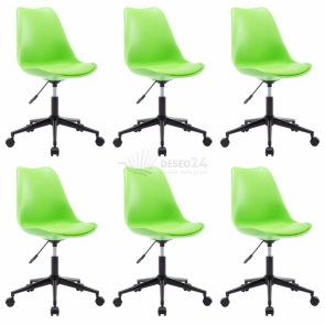 Otočné jídelní židle 6 ks zelené umělá kůže [276188]
