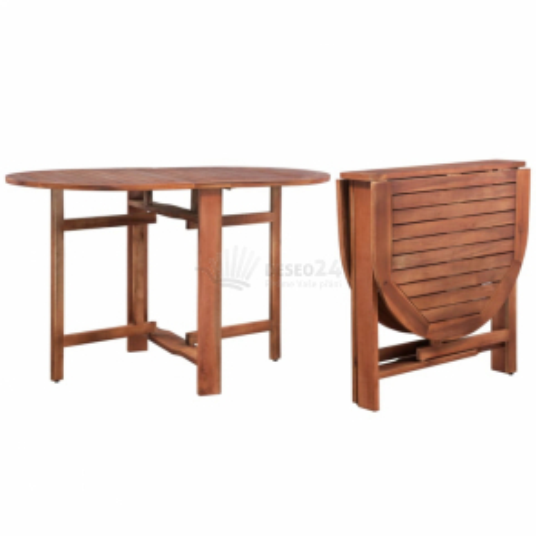 Zahradní stůl 120 x 70 x 74 cm masivní akáciové dřevo [44019]