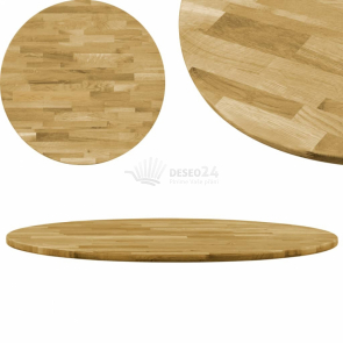 vidaXL Stolní deska z masivního dubového dřeva kulatá 23 mm 600 mm [245983]