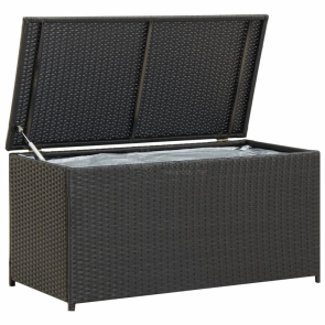 vidaXL Zahradní úložný box polyratan 100 x 50 x 50 cm černý [46471]