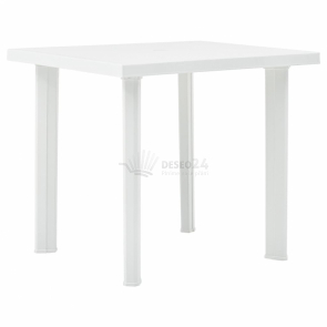 vidaXL Zahradní stůl bílý 80 x 75 x 72 cm plast [48802]