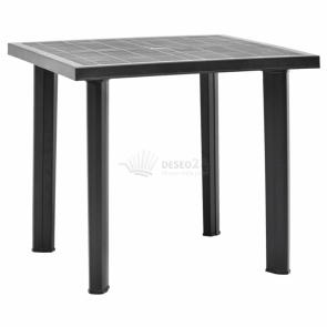 vidaXL Zahradní stůl antracitový 80 x 75 x 72 cm plast [48804]