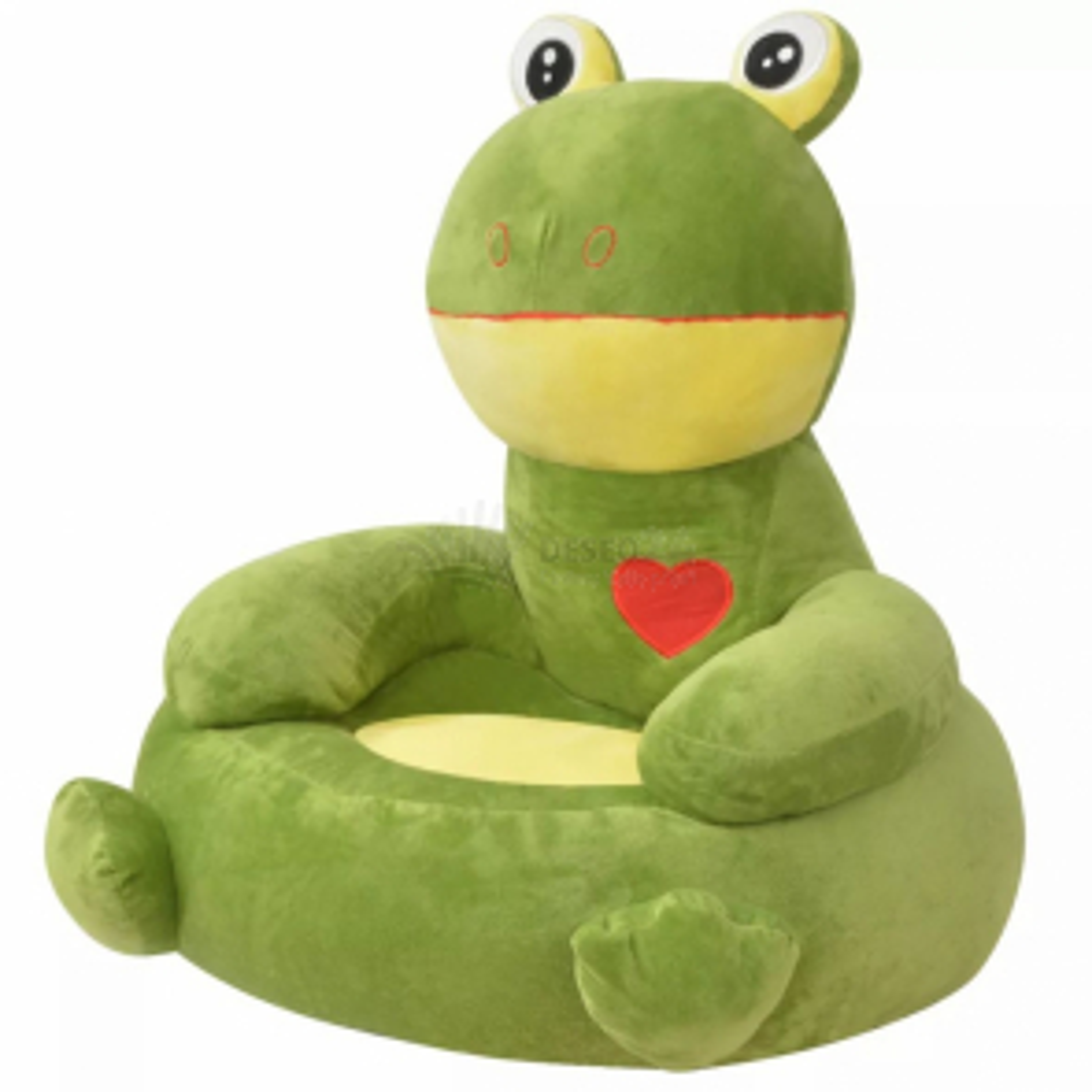 vidaXL Plyšové dětské křeslo žába zelená [80162]