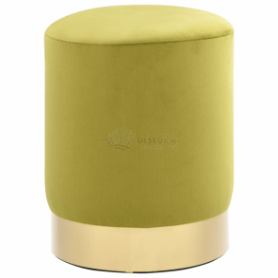 vidaXL Stolička mechově zelená a zlatá samet [249841]