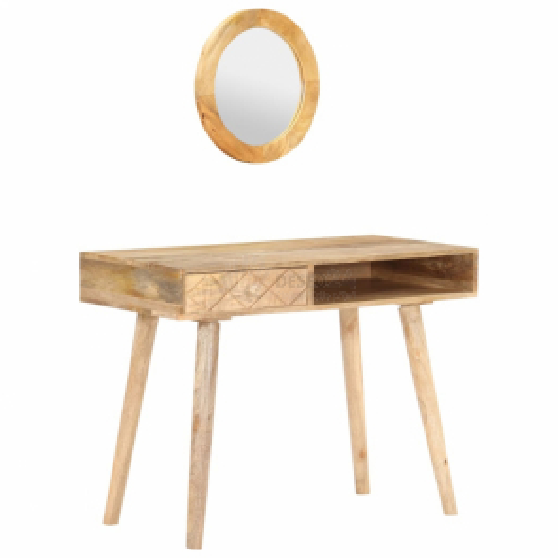 vidaXL Toaletní stolek 100 x 50 x 76 cm masivní mangovníkové dřevo [289636]