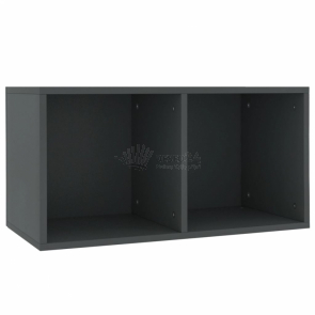 vidaXL Úložný box na LP desky šedý 71 x 34 x 36 cm dřevotříska [800119]