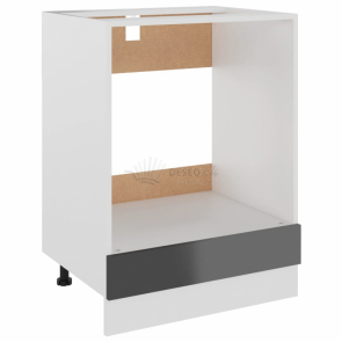 vidaXL Skříňka na troubu šedá vysoký lesk 60x46x81,5 cm dřevotříska [802504]