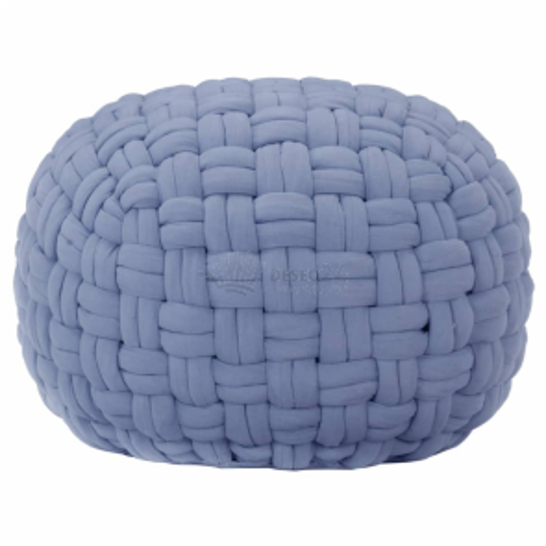 vidaXL Sedací puf pletený modrý 50 x 35 cm bavlna [287591]