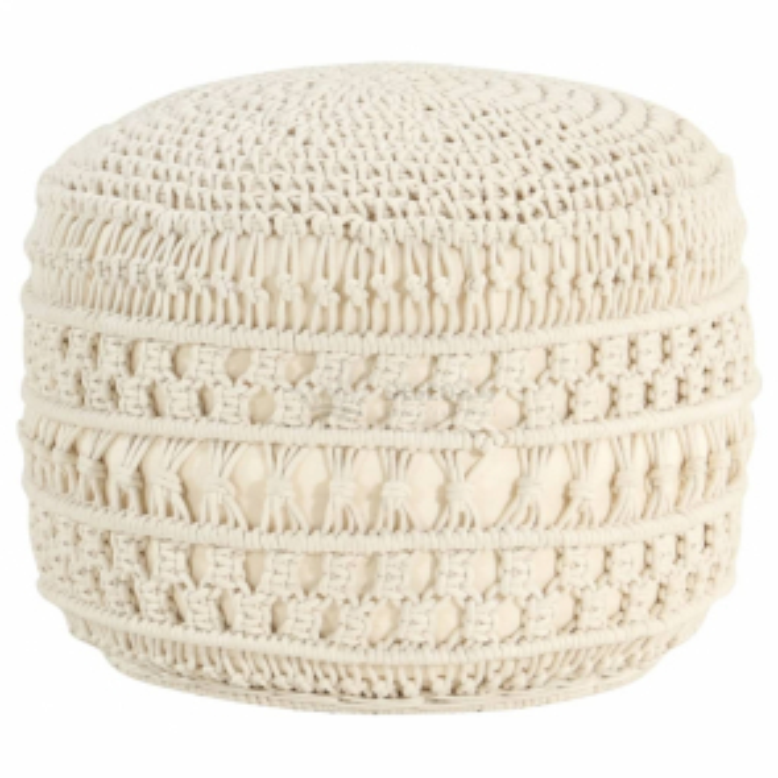 vidaXL Ručně vyrobený sedací puf macramé 45 x 30 cm bavlna [324002]