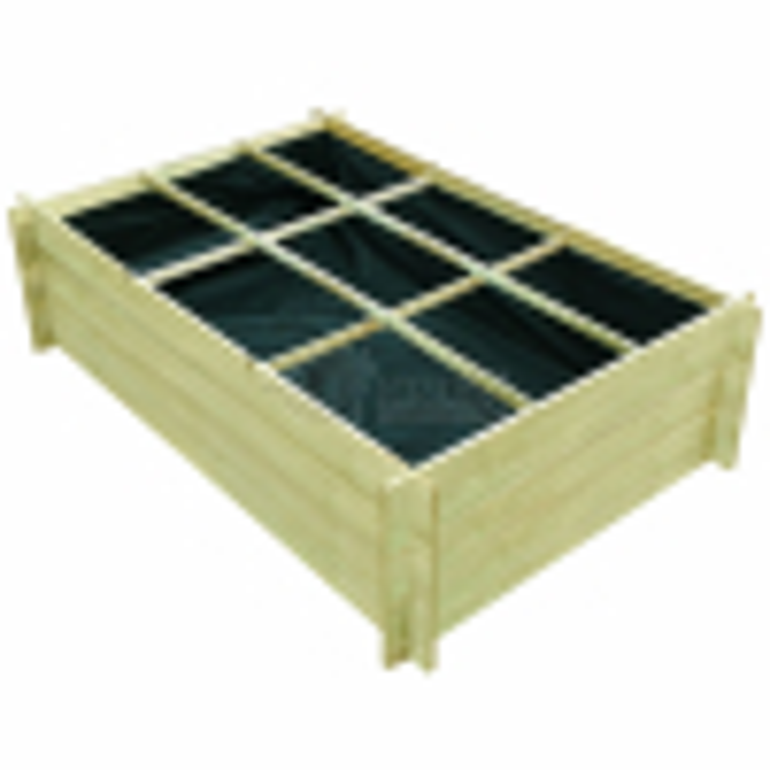 Impregnovaný drevený vysadzovač 150 x 100 x 40 cm