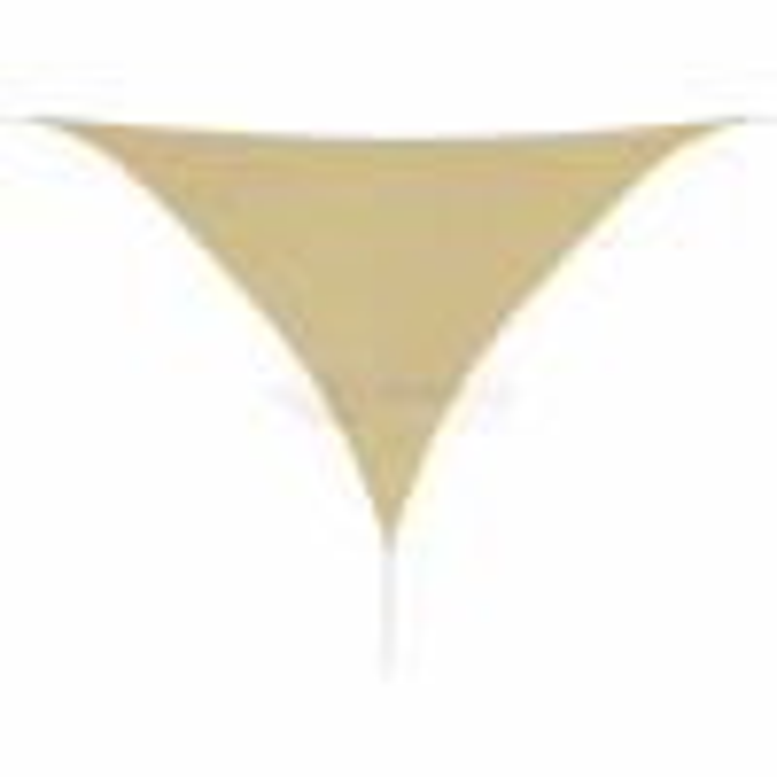 Plachta proti slunci, oxfordská látka, trojúhelník, 3,6 x 3,6 x 3,6 m, béžová